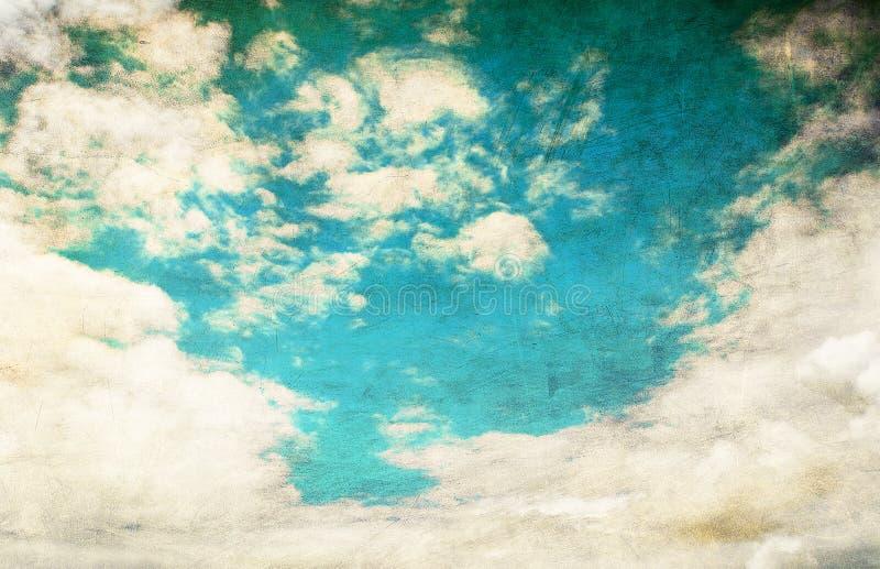 небо пасмурного изображения ретро стоковое изображение