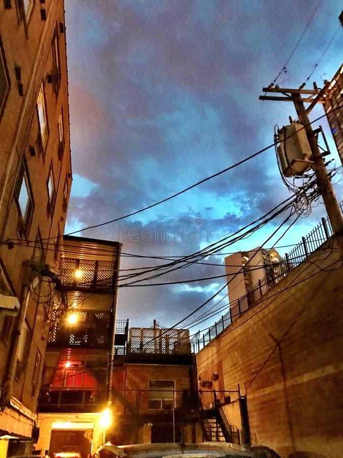Небо переулка Чикаго стоковые фото