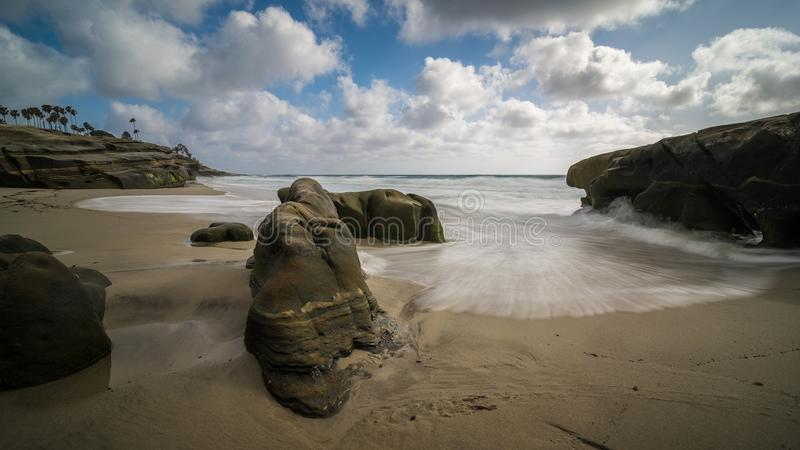 Небо, пляж, развевает стоковые изображения
