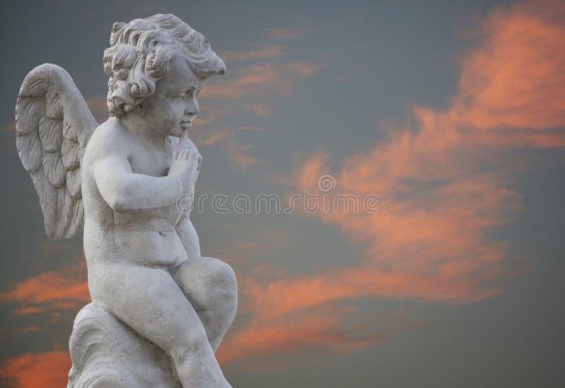небо померанца ангела стоковое фото rf