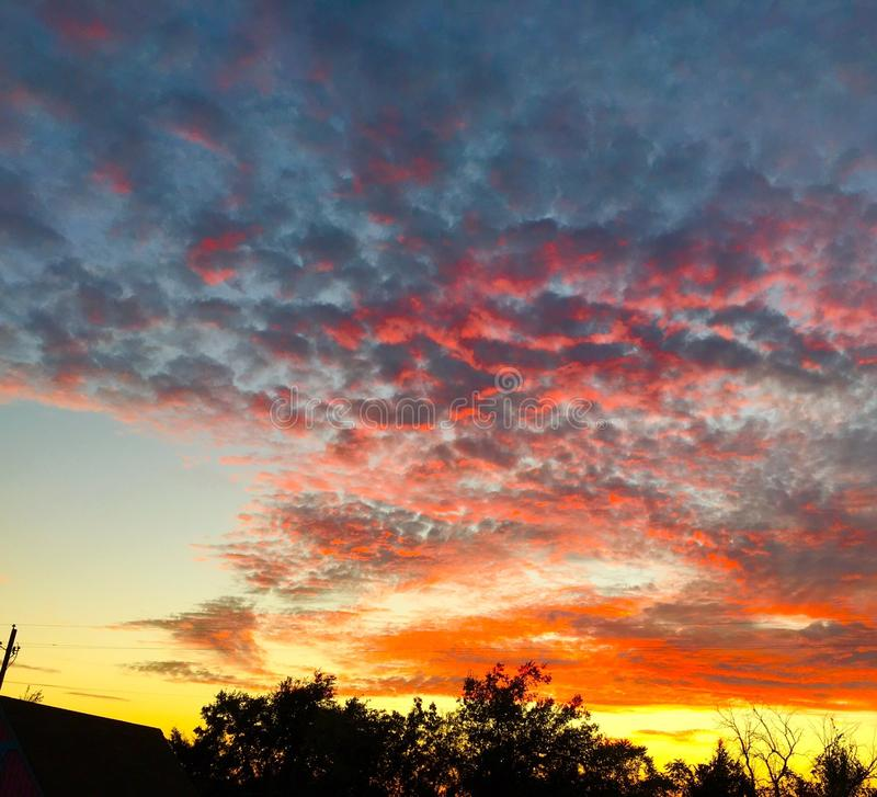 Небо попкорна стоковая фотография