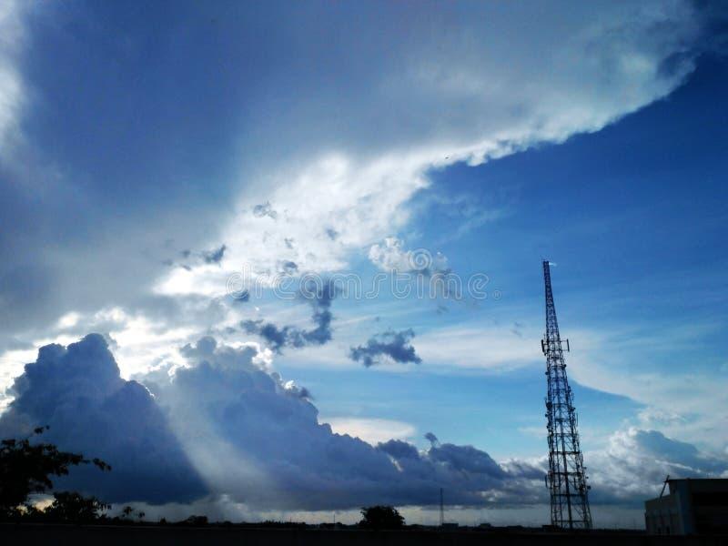 Небо после полудня стоковые изображения