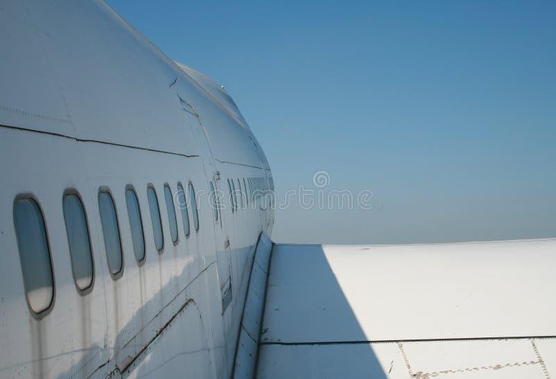 небо рекламы авиалайнера стоковые изображения