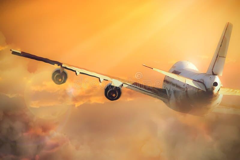 небо самолета стоковое фото rf