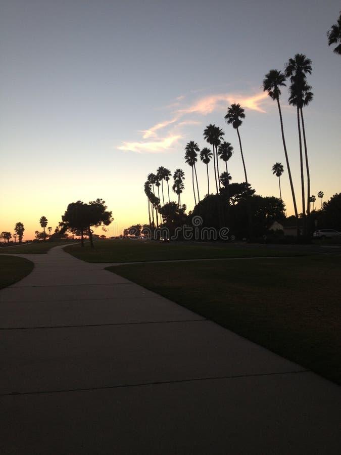Небо Санта-Барбара стоковое изображение rf