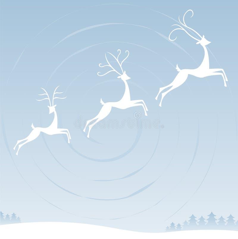 небо северного оленя иллюстрация вектора