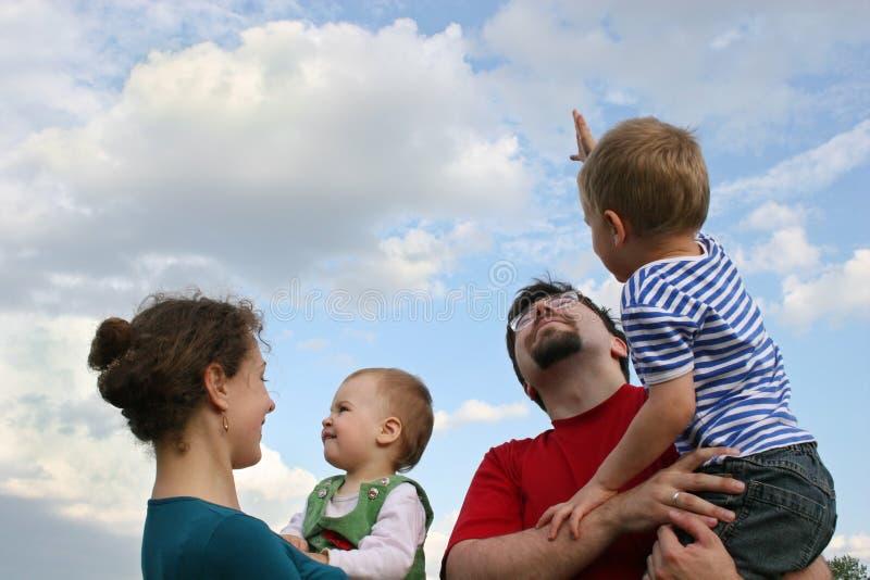 небо семьи стоковые изображения