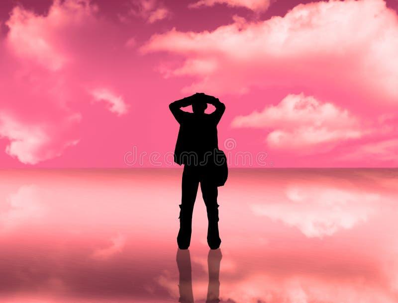 небо силуэта отражения бесплатная иллюстрация
