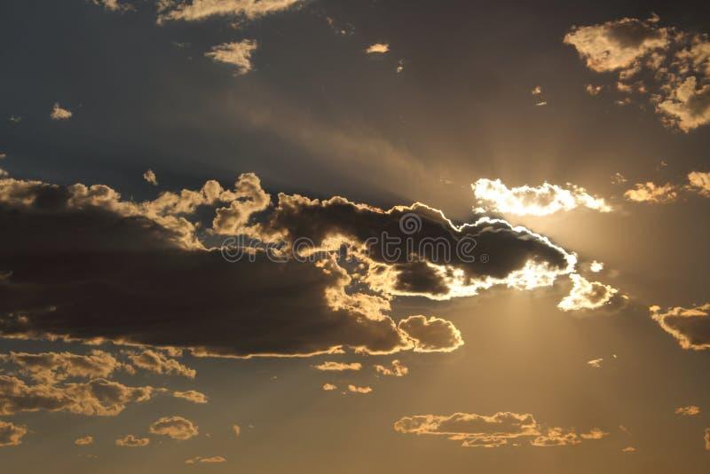 Небо сумрака стоковые изображения rf
