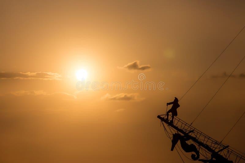 Небо с заходом солнца стоковое изображение rf