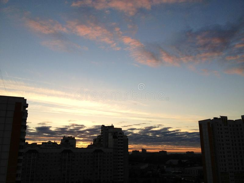 Небо утра стоковая фотография rf