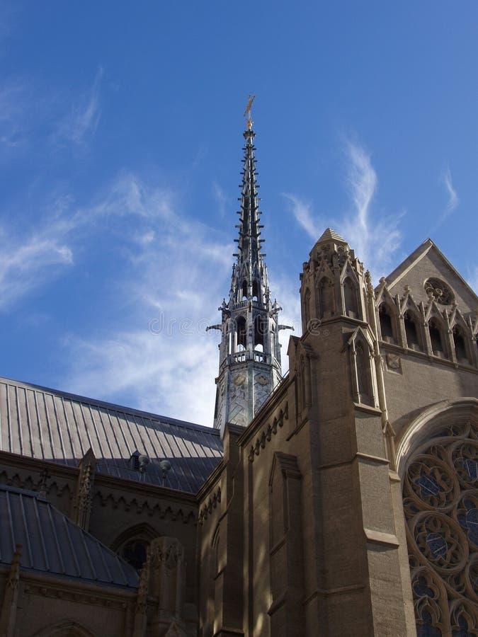 небо фиоритуры собора стоковая фотография rf
