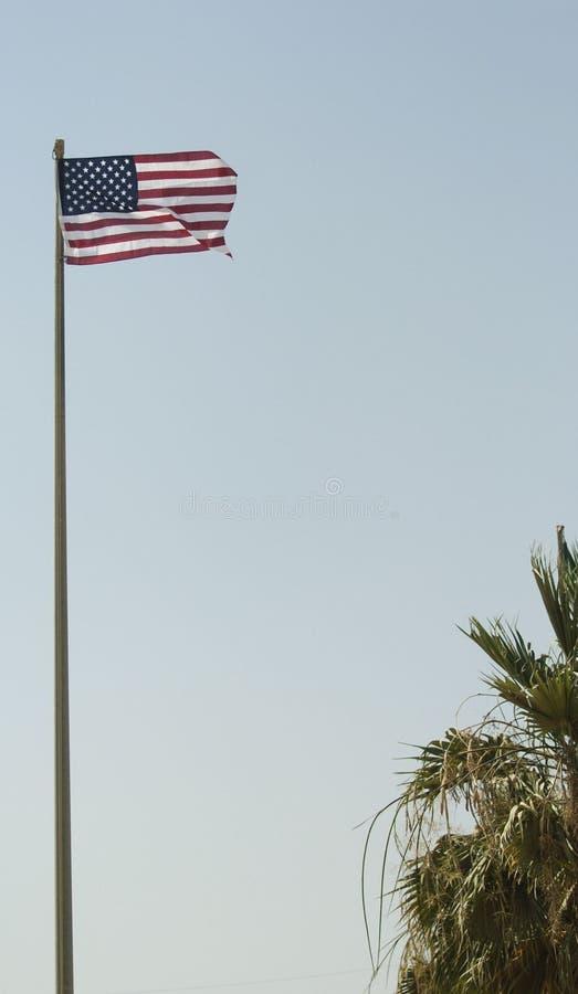 небо флага высокое стоковое изображение
