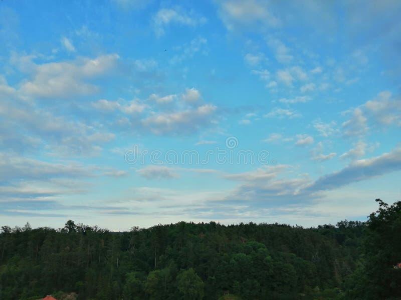 Небо Чехия природы в Bechyne стоковое фото rf