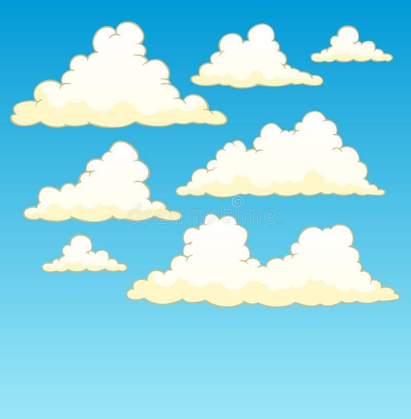 небо 5 предпосылок пасмурное иллюстрация штока