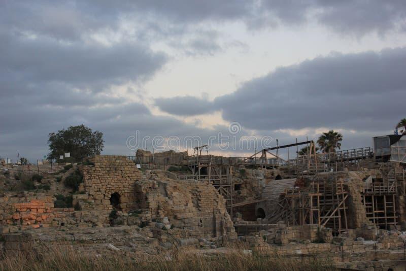 Небо Cesaria Израиль стоковые изображения rf