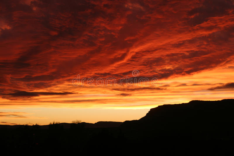Небо Kanab стоковое фото rf