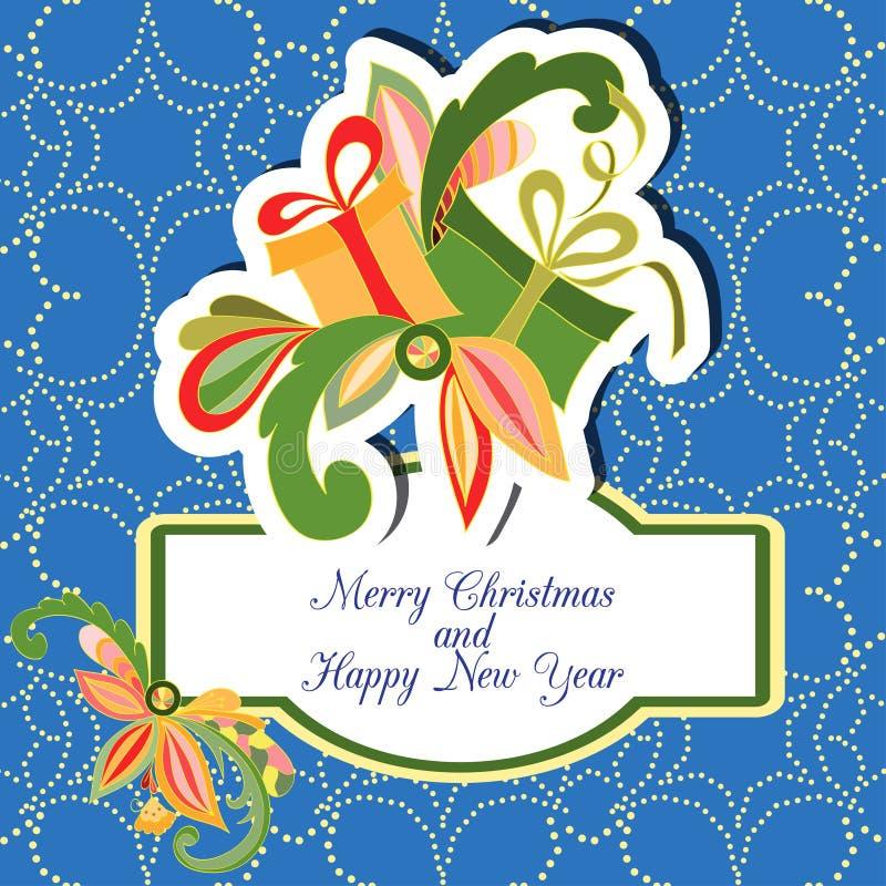 Download небо Klaus Santa заморозка рождества карточки мешка Иллюстрация вектора - иллюстрации насчитывающей весело, украшение: 41663322