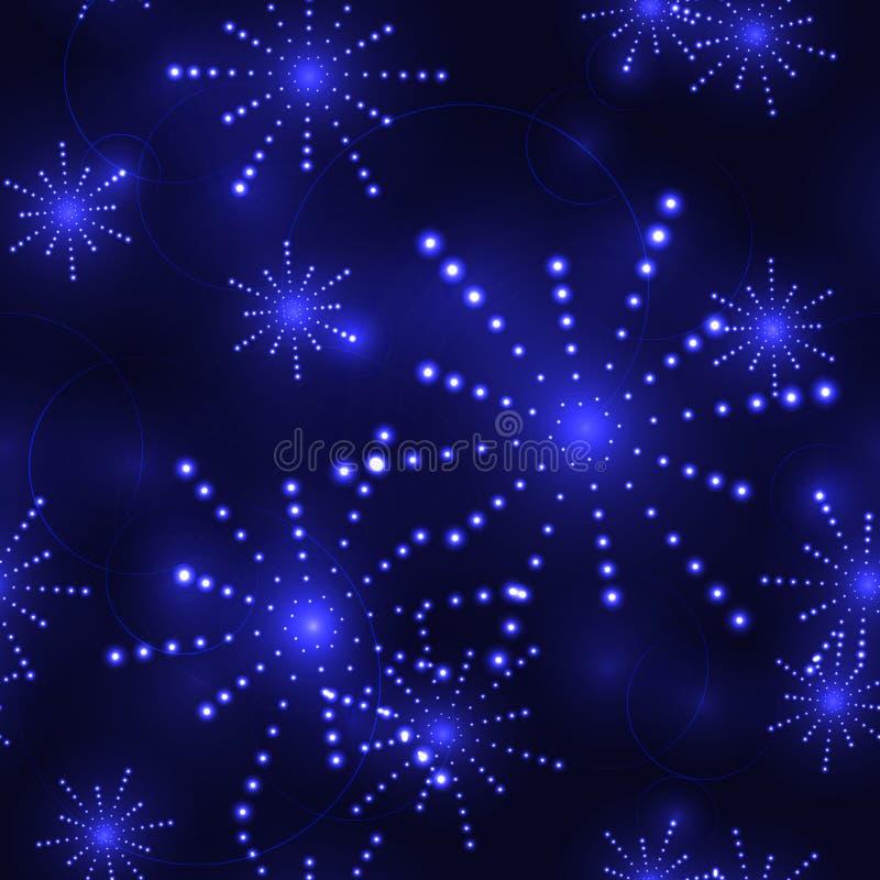 Небо od голубых звезд темное - безшовная предпосылка бесплатная иллюстрация