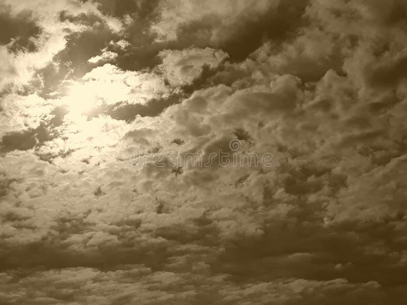 Небо Sépia стоковое фото rf