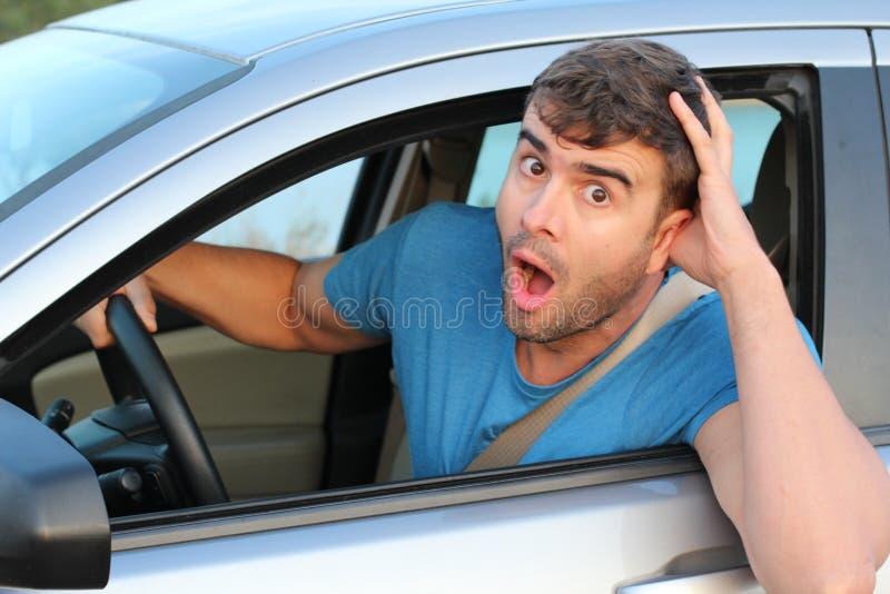 Небрежный водитель совершая ошибка стоковые изображения rf