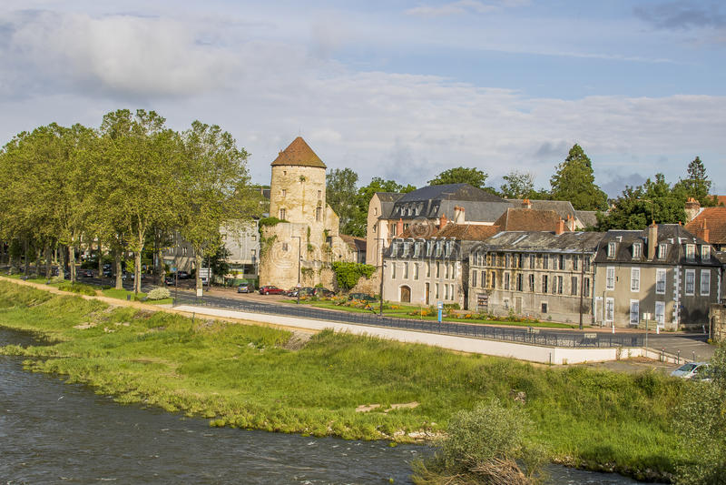 Невер, Бургундия, Франция стоковые фотографии rf