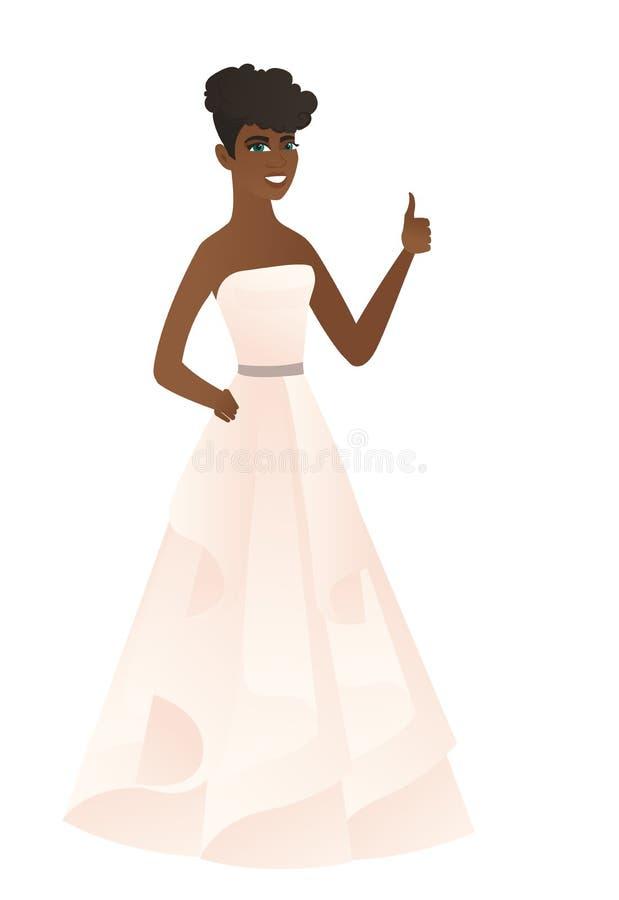 Невеста давая большой палец руки вверх по иллюстрации вектора бесплатная иллюстрация