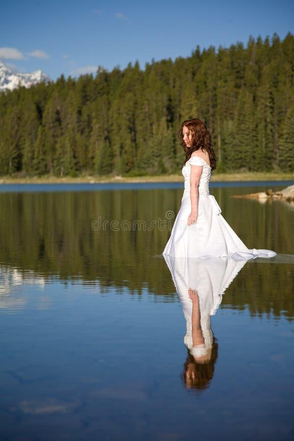 Невеста в воде Бесплатное Стоковое Изображение