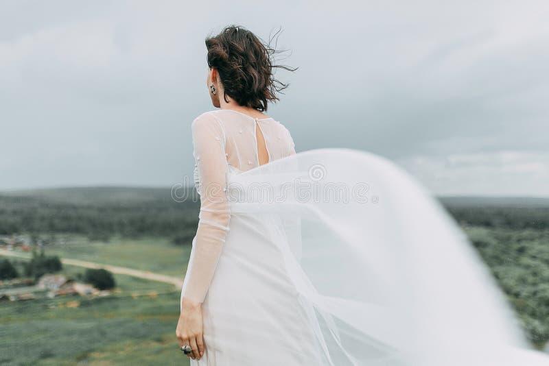 Невеста в горах стоковые изображения