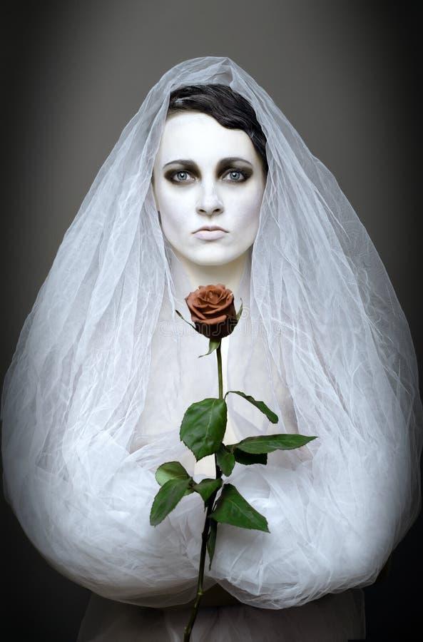 невеста готская стоковое изображение
