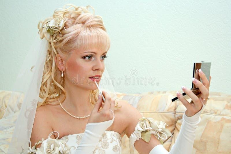 невеста довольно стоковые изображения