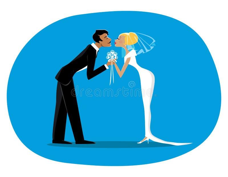 Download Невеста и bridegroom иллюстрация вектора. иллюстрации насчитывающей шарж - 43565754