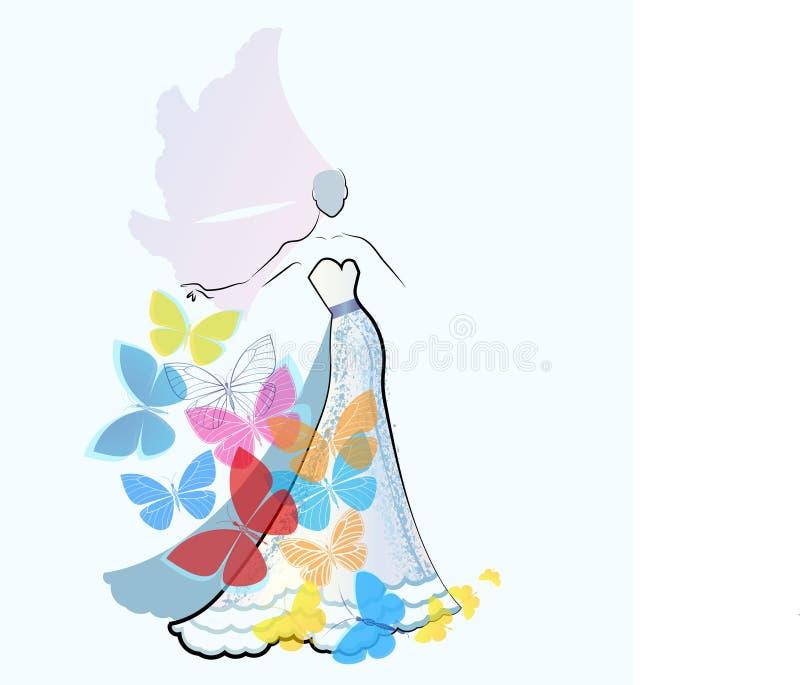 Невеста моды иллюстрация штока