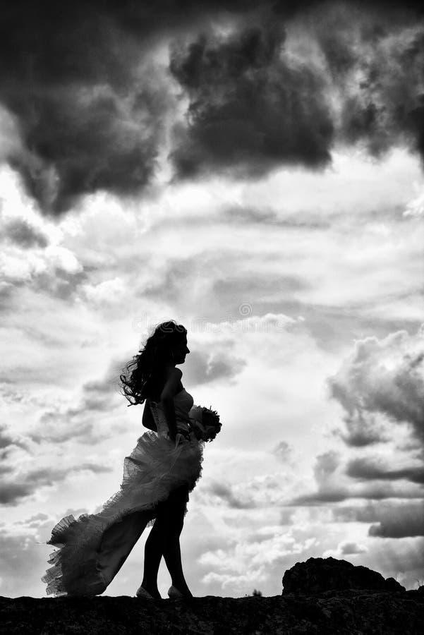 Download невеста напольная стоковое изображение. изображение насчитывающей поле - 41659445