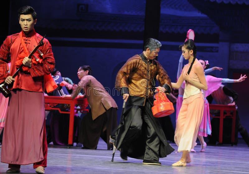 Невеста нет ее- первый поступок событий драмы-Shawan танца прошлого стоковая фотография rf