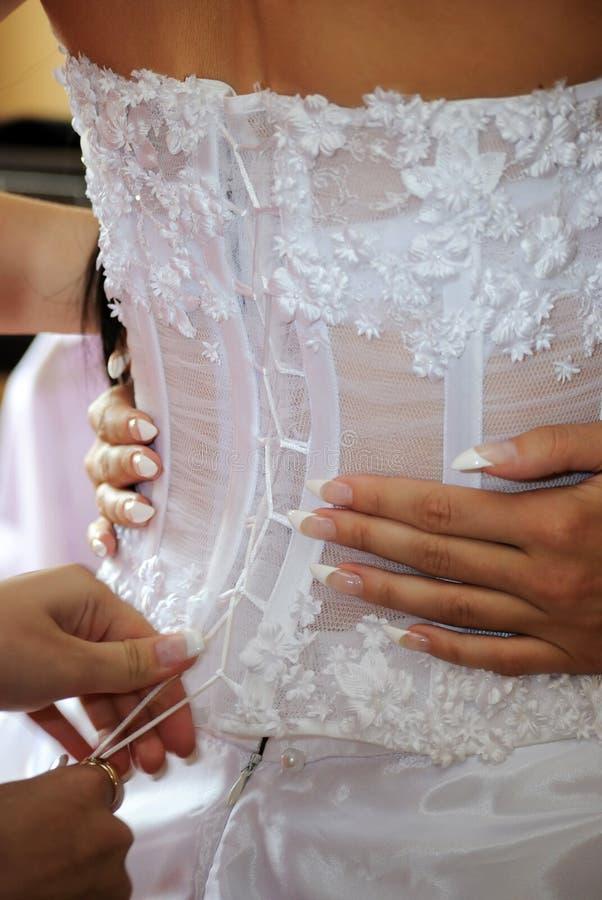 невеста связала стоковое изображение rf
