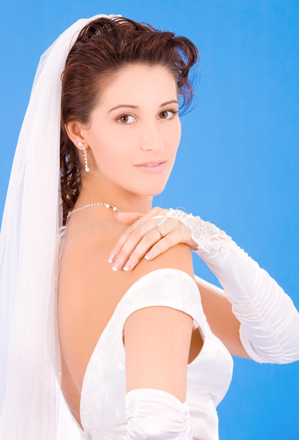 невеста счастливая стоковые фото