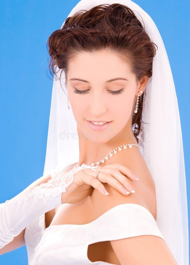 невеста счастливая стоковая фотография rf