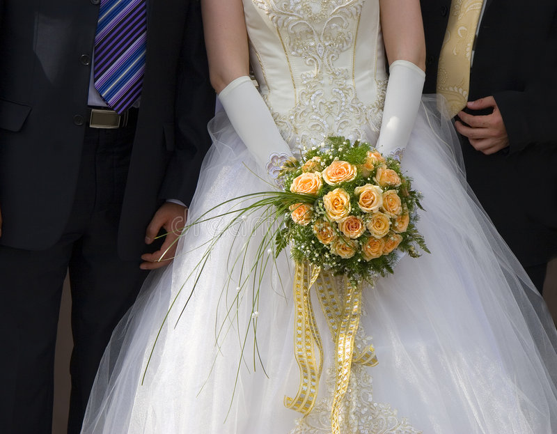 невеста холит 2 стоковое фото