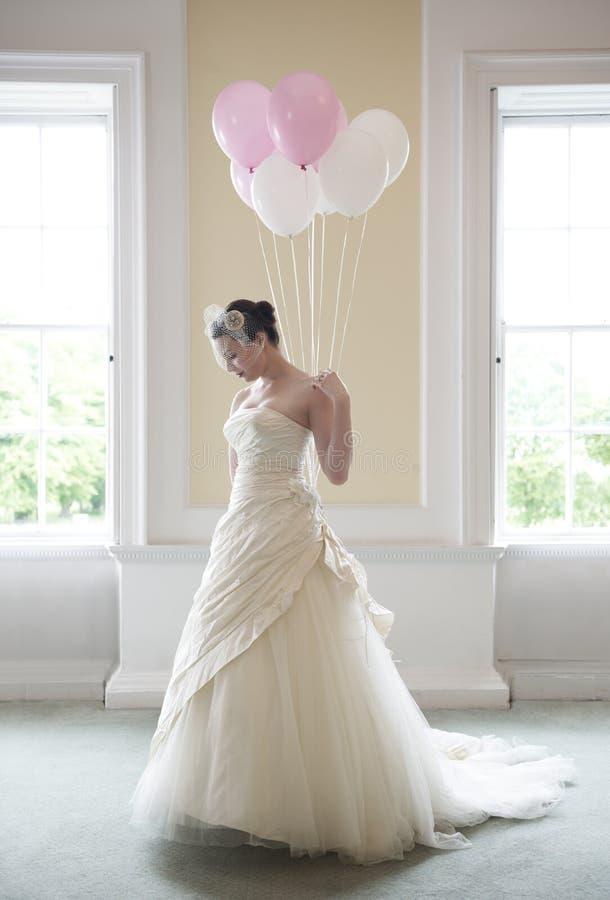 невеста ballons стоковая фотография rf