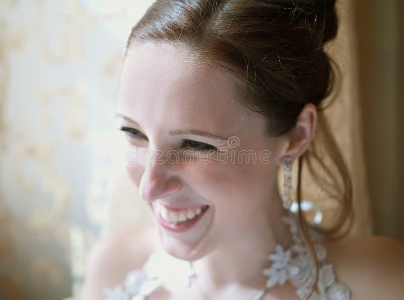 невеста laughting стоковое изображение rf