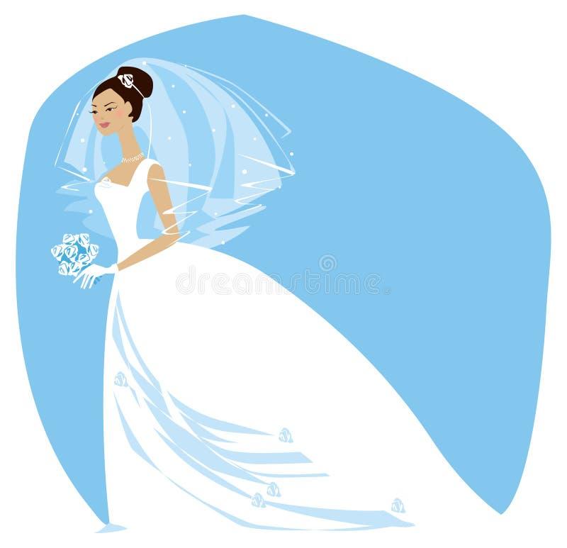невеста ready2 иллюстрация вектора