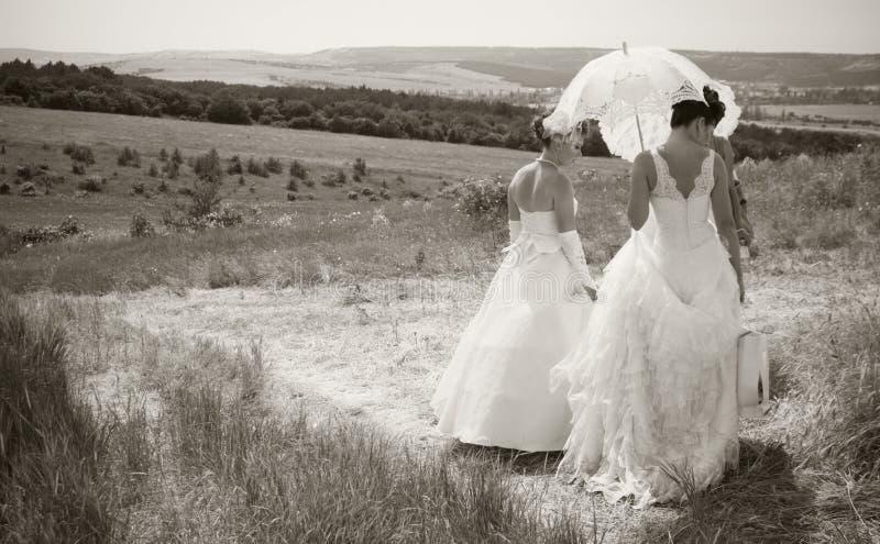 невесты ретро стоковое изображение