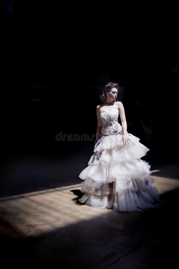 Невесты фантазии в затеняемой комнате стоковая фотография rf