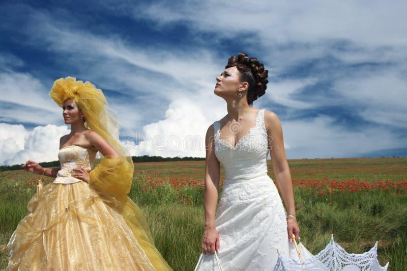 невесты 2 стоковые изображения rf