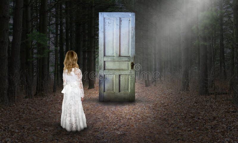 Невиновность, духовное второе рождение, надежда, влюбленность, мир, сюрреалистический стоковое изображение rf