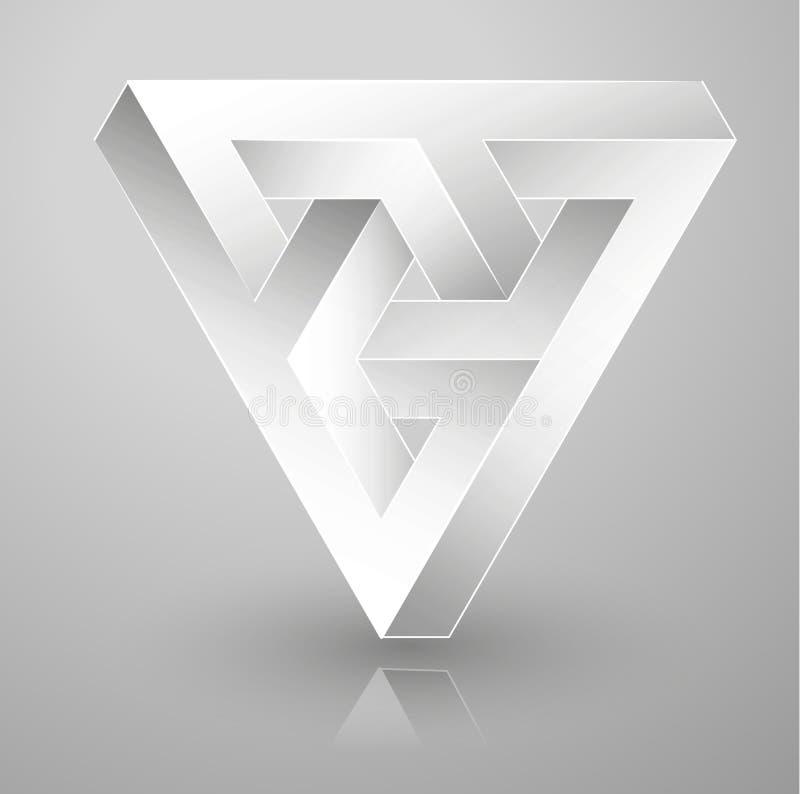 Невозможная геометрия иллюзион оптически иллюстрация вектора