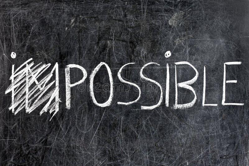 Невозможный будет возможный на доске стоковые фото