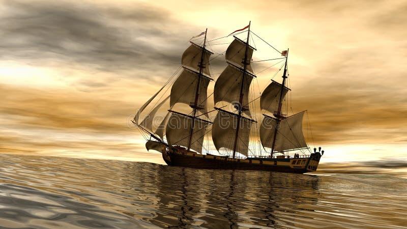 Невольничье судно груза Aurore иллюстрация штока