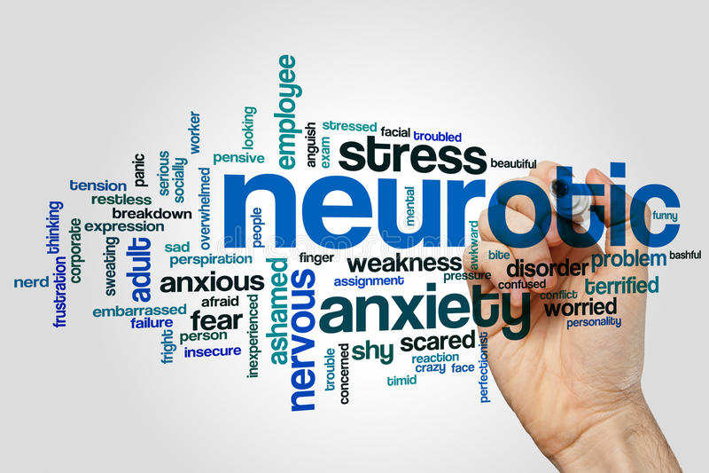 Невротическое облако слова стоковое изображение